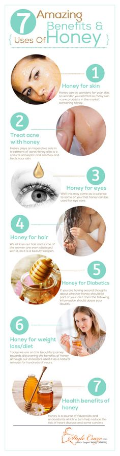 7 Amazing Benefits And Uses Of Honey: Let us look at uses of honey for eyes, skin, hair, overall health, acne treatment, and weight loss/diet.  So let us get started right away!