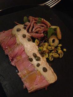 Anchovy, olive and venison at La Tasquita de Enfrente in Madrid, Spain