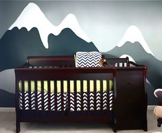 mountains nursery...now if only i had someone to paint this mural!