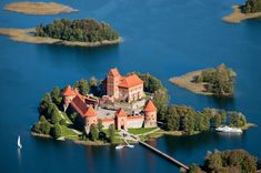 Trakai Castle is an island castle situated on the beautiful Lake.