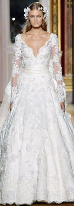 Zuhair Murad Couture Bridal - great for modern vintage inspired wedding, fairy princess - magical themed wedding or something grand in the style of Excalibur :)