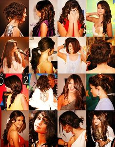 Different Selena Gomez hairstyles