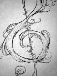 "This is a tutorial for drawing a simple G-clef, or a ""treble clef"", and a few other fun variations of this key symbol. Treble Clef, Step By Step Instructions, Tatting, Symbols, Fine Art, Drawings, Simple, Fun, Inspiration"