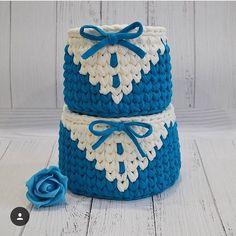 "876 Likes, 7 Comments - @ayfermorkaya (@applewhitecrochet) on Instagram: ""By @korzinki_hand_made #crochê #croché #ganchillo #ganchilloxxl #ganchillocreativo #fiodemalha…"""
