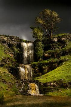 waterfall near Cray, Upper Wharfedale in Yorkshire, England