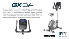 Cycle the world in the comfort of your home on the NordicTrack GX3.4 Bike Powered by Google Maps