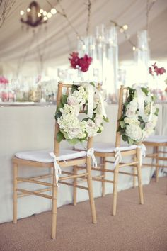 #chair-decor, #wreath  Photography: Sarah Kate - sarahkatephoto.com  Read More: http://www.stylemepretty.com/2014/03/21/rustic-texas-ranch-wedding/