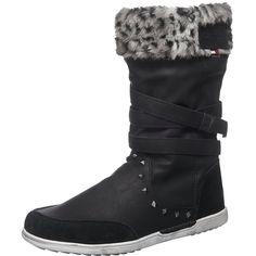Die winterlichen KangaROOS K-Boot 5009 Stiefel bestechen durch ihr kuschliges Warmfutter und das weiche Fußbett. Sie werden somit zum tollen Begleiter an kalten Tagen.  - Verschluss: Reißverschluss - zusätzlich ist der Schaft mit verstellbaren Riemen ausgestattet, um die Schaftweite zu optimieren - Schaftrand aus Kunstfell in Leoparden Optik - Oberfläche aus vielfältig strukturiertem Obermateri...