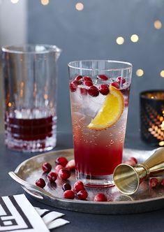 Cocktail sans alcool aux canneberges - Châtelaine