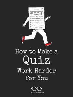 How to Make a Quiz Work Harder for You - Assessments should clearly tell us what our students understand. But without a system for precisely pinpointing that information, our tests and quizzes aren't working hard enough. Instructional Strategies, Teaching Strategies, Teaching Tips, Teaching Techniques, College Teaching, Teaching Writing, Creative Teaching, Student Learning, First Year Teachers