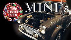Classic Mini Cooper on the Fair Techno Classica in Essen Germany Techno, Classic Mini, Mini Tuning, Minis, Mini Cooper, Antique Cars, Germany, Essen, Vintage Cars