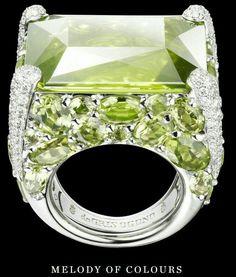 e07cba2196 Gems Jewelry, Jewelry Box, Fine Jewelry, Luxe, Peridot Rings, Ruby Rings