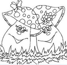 casal de cogumelos