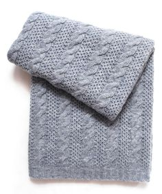 Look at this Esteffi 30'' x 40'' Heather Gray Cable-Knit Wool-Blend Stroller Blanket on #zulily today!