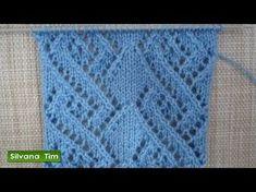 Tutorial de tejido con dos agujas. Punto (puntada) ROMBOS CALADOS # 379 - YouTube