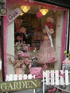 pretty in pink window display