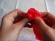 Lubię Tworzyć - Róża z bibuły marszczonej - YouTube