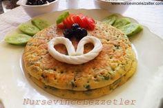 Tuzlu Pankek Tava Keki Pancake | Yemek Tarifleri Turkish Recipes, Ethnic Recipes, Breakfast Recipes, Pancakes, Brunch, Food And Drink, Yummy Food, Cooking, Desserts