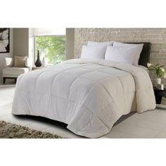 Never Down All-Season Microsoft Down Alternative Comforter, White