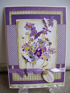 thinking of you - Scrapbook.com  love the Martha Stewart butterflly punch