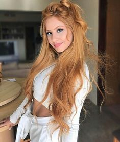 39 of The Most Trendy Strawberry Blonde Ideas For Your Hair Hair Styles 2016, Curly Hair Styles, Natural Hair Styles, Natural Red Hair, Face Shape Hairstyles, Thin Hairstyles, Baddie Hairstyles, African Hairstyles, Ponytail Hairstyles
