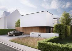 villa L & V, Lichtervelde - Ai & M - Architecture - Arquitectura Architecture Durable, Modern Architecture House, Facade Architecture, Residential Architecture, Modern House Design, Arch House, Facade House, Design Exterior, Minimal Home