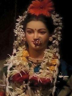 Panchabhootatmika = The Goddess Who is the Soul of the Five Elements Shiva Shakti, Durga Maa, Shree Ganesh, Ganesha, Ganesh Chaturthi Images, Ganapati Decoration, Radha Rani, Indian Gods, Indian Art
