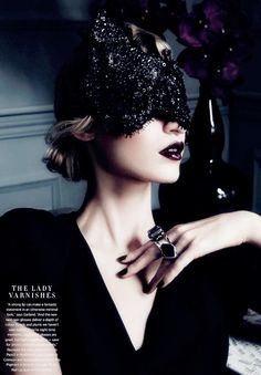 if looks could kill: julia nobis by todd barry for harper's bazaar australia june/july 2013 Todd Barry, Lace Mask, Black Sparkle, Black Gold, Masquerade Party, Julia, Dark Beauty, Harpers Bazaar, Mardi Gras