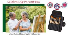 Celebrate your parents with a gift set of USA Handmade artist brushes from Hand… Artist Brush, Paint Brushes, Brush Set, Parents, Student, Usa, Celebrities, Face, Fabric