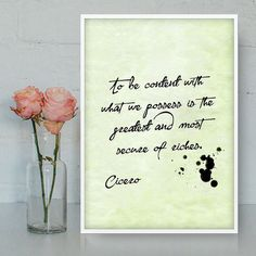To be content with what we possess is the greatest and most secure of riches - Cicero by Quotes2love