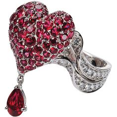 Dior Ruby and Diamond Ring