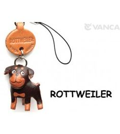 Rottweiler Leather Cellularphone Charm #46776