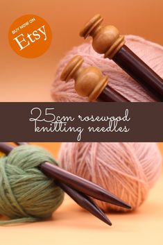 These lovely single-pointed wooden knitting needles are handmade and lovely to knit with. Made with gorgeous rosewood, they warm to your hand offering superior knitting experience. Available on Etsy in various sizes, 30cm long. Craft Accessories, Knitting Accessories, Wooden Knitting Needles, Crochet Tools, Hand Dyed Yarn, Yarn Crafts, Knitting Projects, Warm, Unique Jewelry