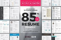 CV tips Top Selling Resume/CV Big Bundle by ThemeDevisers on @creativemarket