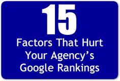 15 Factors that Hurt Your Agency's Google Rankings