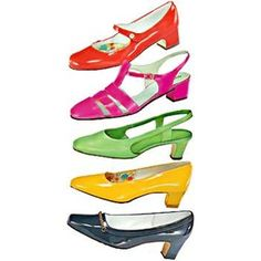 1960s shoes  Yes I certainly had the colored shoes and matching purses even some dress gloves to match