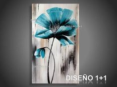 Cuadros Diseño 1+1 - FLORES - FLORES 139 Acrylic Painting Trees, Acrylic Art, Watercolor Paintings, Seele Tattoo, Art Deco Wall Art, Painting Inspiration, Art Lessons, Flower Art, Art Drawings