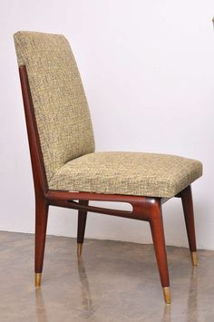 Unusual Set of Six Dining Chairs by Eugenio Escudero, Mexico, 1950s | From a unique collection of antique and modern dining room chairs at https://www.1stdibs.com/furniture/seating/dining-room-chairs/