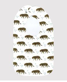 All Over Leopard + Triangle Print Bib | Organic | Newborn Baby | 0017
