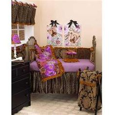 """In LOVE with this """"Wild Elegance"""" crib bedding by Cotton Tale Designs! Don't care so much for the wall art, though. (At Toys R Us. Baby Girl Crib Bedding, Crib Bedding Sets, Comforter Sets, Linen Bedding, Bed Linen, Cheetah Nursery, Hippie Bedding, Pottery Barn Teen Bedding, Bedding Sets Online"""