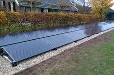 24 panelen open veld/op de grond geplaatst - Solarama