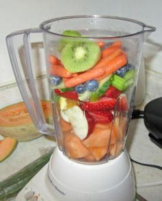 Fruit and Vegetable Blender Drinks | Make Homemade Fruit Smoothies Power Smoothies Fruit and Veggie Shake ...