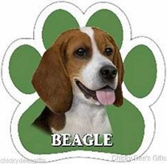 E & S Pets Paw Magnet Beagle MPN: 13125 BREED: Beagle CONDITION: New SIZE: 5 x 5 in MATERIAL: High Quality Magnetic Vinyl High quality, UV coated car magnets. Great for Cars, Trucks, Refrigerators, Ma