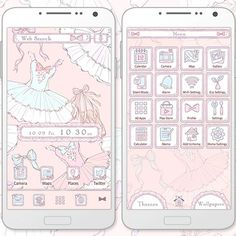 """Mon Etoile"" 10/15 Elegant tutus and ballet slippers are a necessity for any ballerina! Bring them to your smartphone. http://app.android.atm-plushome.com/app.php/app/themeDetail?material_id=1352&rf=pinterest #cute #wallpaper #love #kawaii #design #icon #girl #follow #fashion #code #style #beautiful #plushome  #homescreen #widget #deco #ballet"