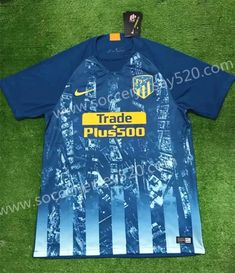 2018-19 Atletico Madrid 2nd Away Blue Printing Thailand Soccer Jersey a0357e553