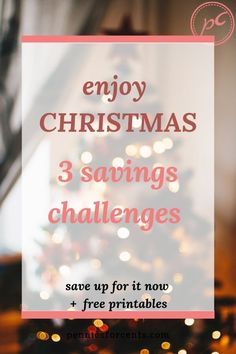 3 Christmas savings plan money challenges with monthly & weekly option.PLUS free printable tracker templates AND tips to help you find the money to save for the holidays. Christmas Savings Plan, Christmas On A Budget, Money Challenge, Savings Challenge, Ways To Save Money, Money Saving Tips, Managing Money, Best Budgeting Tools, Sinking Funds