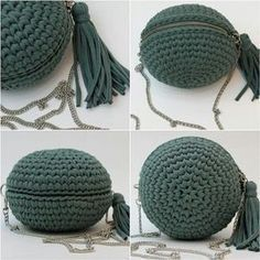This Pin was discovered by fozCrochet Handbag Tutorial http:Crochet hand made Crochet Wallet, Bag Crochet, Crochet Handbags, Crochet Purses, Love Crochet, Crochet Stitches, Crochet Patterns, Crotchet Bags, Knitted Bags