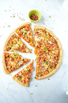Sweet and Spicy Tofu Pizza
