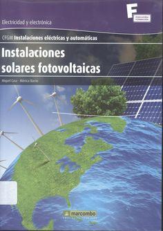 """Casa, Miquel /Barrio, Mónica. """"Instalaciones solares fotovoltaicas"""""""