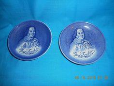SET OF (2) Ben Franklin  Enoch Wedgwood Coaster #EnochWedgwood